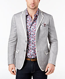CLOSEOUT! Tallia Orange Men's Slim-Fit Gray Herringbone Sport Coat