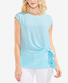 Vince Camuto Cap-Sleeve Side-Tie Top