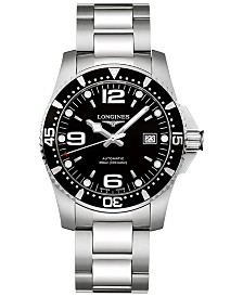 Longines Men's Swiss Automatic HydroConquest Stainless Steel Bracelet Watch 41mm