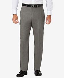 J.M. Sharkskin Classic-Fit Flat Front Premium Flex Waistband Dress Pants