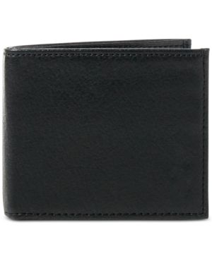 Polo Ralph Lauren Men's Wallet, Pebbled Bifold Wallet