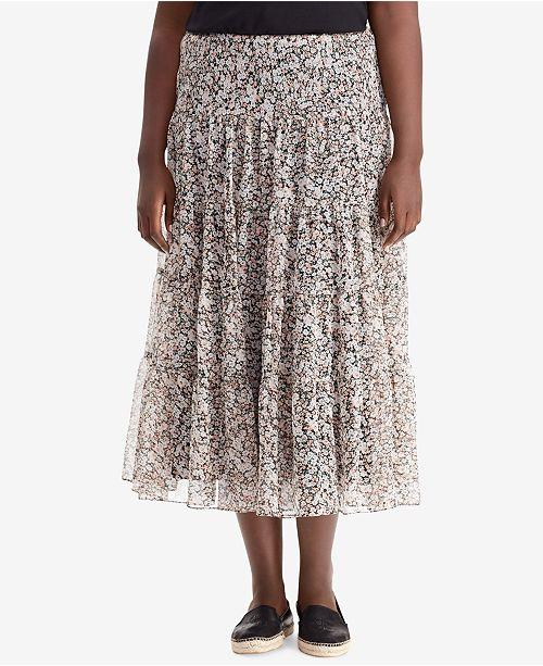 666d6c1552227 Lauren Ralph Lauren. Plus Size Floral-Print Maxiskirt. 1 reviews. main  image  main image ...