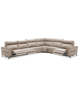 furniture raymere 6 pc leather sectional sofa with 3 power rh macys com nevio 6-pc leather sectional sofa with chaise winterton 6-pc. leather sectional sofa