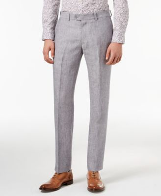 Light Gray Chambray Slim-Fit Pants, Created for Macy's