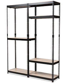 Gavin 7-Shelf Closet Rack, Quick Ship