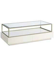 Delano Glass Top 2-Drawer Rectangular Coffee Table