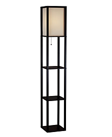 Adesso Wright Tall Shelf Floor Lamp