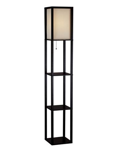 Adesso Wright Tall Shelf Floor Lamp