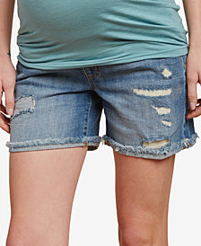 Jessica Simpson Maternity Distressed Denim Shorts
