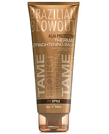 Brazilian Blowout Açai Protective Thermal Straightening Balm, 8-oz., from PUREBEAUTY Salon & Spa