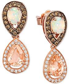 Chocolatier® Multi-Gemstone (1-1/3 ct. t.w.) & Diamond (1/2 ct. t.w.) in 14k Rose Gold