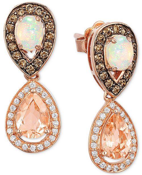 Le Vian Chocolatier® Multi-Gemstone (1-1/3 ct. t.w.) & Diamond (1/2 ct. t.w.) in 14k Rose Gold