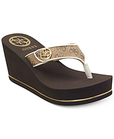 GUESS Sarraly Eva Logo Wedge Sandals