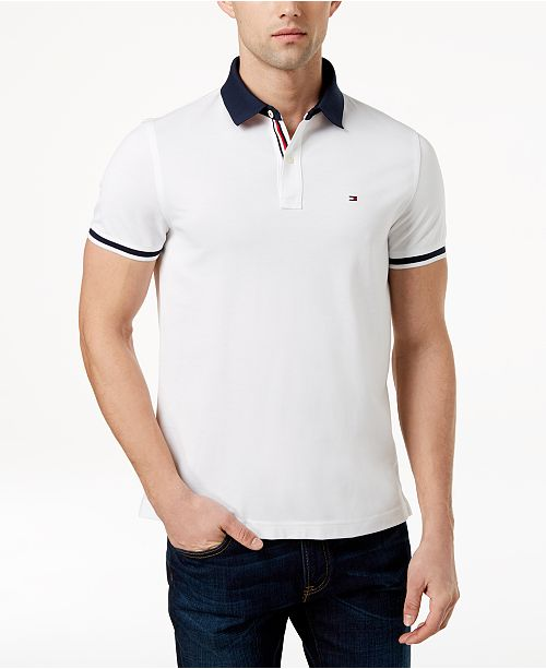 Tommy Hilfiger Men s Sanders Custom Fit Polo, Created for Macy s ... 075c233fb0