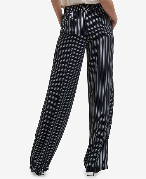 0a1faeb4f4 DKNY Striped Wide-Leg Pants, Created for Macy's & Reviews - Pants ...