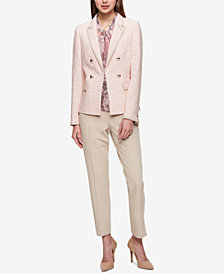 Tommy Hilfiger Double-Breasted Blazer & Skinny Ankle Pant