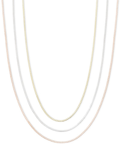 14k Gold, 14k Rose Gold and 14k White Gold Necklaces, 16-30
