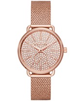 db5594f5b626 Michael Kors Women s Portia Rose Gold-Tone Stainless Steel Mesh Bracelet  Watch 36mm