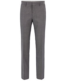 BOSS Men's Slim-Fit Heathered Dress Pants