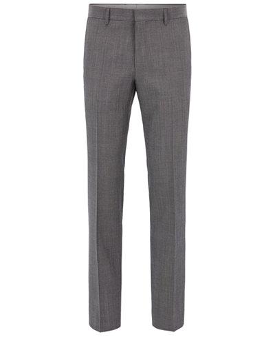 BOSS Men's Slim-Fit Heathered Dress Pants