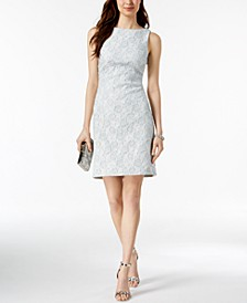 Metallic Jacquard Sheath Dress