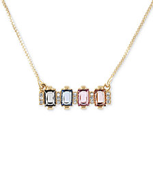 RACHEL Rachel Gold-Tone Cluster Stone Pendant