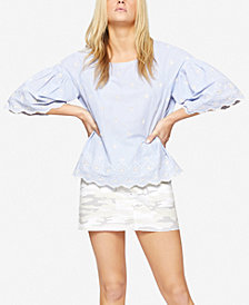 Sanctuary Viola Cotton Embroidered Eyelet Top