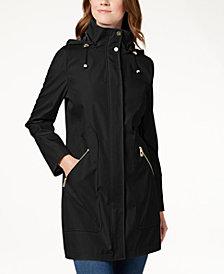 Ivanka Trump Hooded Solid Raincoat