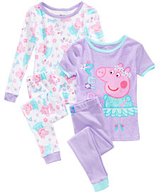 Peppa Pig 4-Pc. Cotton Pajama Set, Toddler Girls