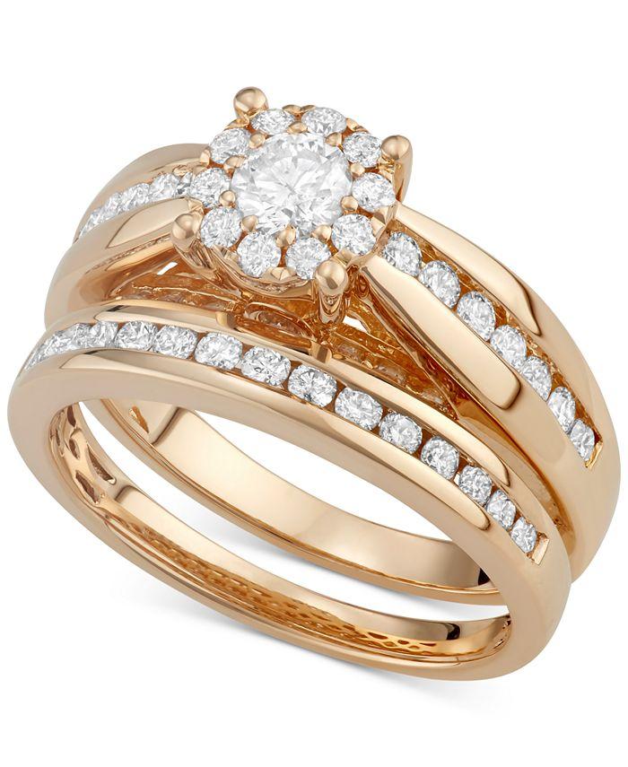 Macy's - Diamond Ring Set in 14k Gold (1-1/3 ct. t.w.)