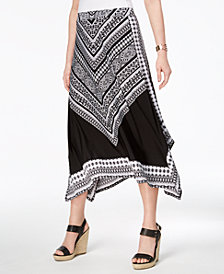 JM Collection Handkerchief-Hem Maxi Skirt, Created for Macy's