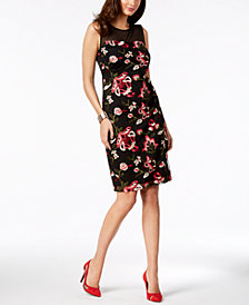 Thalia Sodi Embroidered Mesh Dress, Created for Macy's