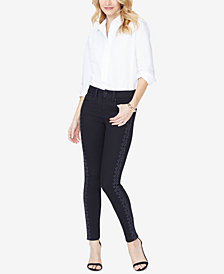 NYDJ Ami Embroidered Skinny Jeans, Created for Macy's