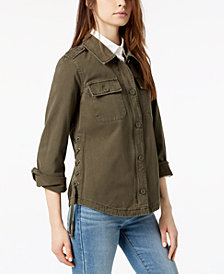 Levi's® Cotton Lace-Up Shirt Jacket