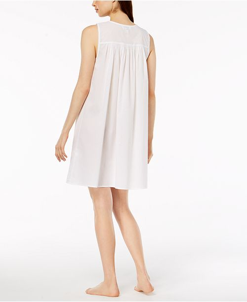 for White Woven Macy's Created Bright Club Charter Embroidered Nightgown 1TWf8pTqX