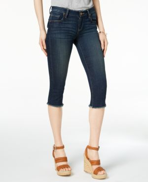 Kut from the Kloth Petite Natalie Cropped Frayed-Hem Jeans 5690368