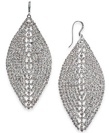 I.N.C. Woman Silver-Tone Crystal Mesh Drop Earrings, Only at Macy's