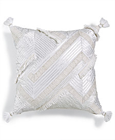"Lacourte Almasa 18"" Square Pieced Embroidered Decorative Pillow, Created for Macy's"