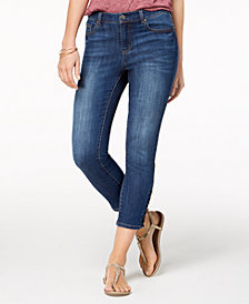Style & Co Lace-Up Capri Jeans, Created for Macy's