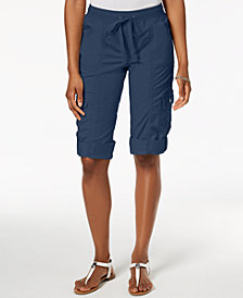Style & Co Drawstring Cargo Shorts, Created for Macy's