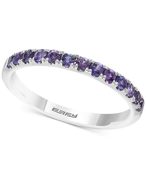EFFY Collection EFFY® Green Sapphire Band (5/8 ct. t.w.) in 14k Gold (Also Available In Purple Sapphire & Yellow Sapphire)