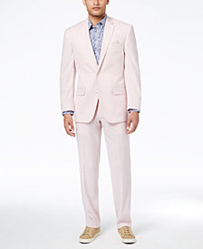 Sean John Men's Classic-Fit Stretch Pink Solid Suit Separates