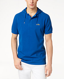 Lacoste Men's Short-Sleeved Waffle-Knit Hooded Polo