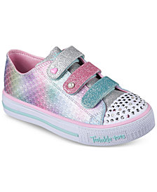 Skechers Little Girls\u0027 Twinkle Toes: Shuffles - Ms. Mermaid Light-Up Casual