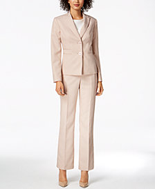 Le Suit Three-Pocket Pantsuit, Regular & Petite