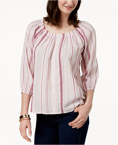 Club Rose Created The Off Combo for Top Cotton Shoulder Macy's Charter Rococo qHdF4xvwSq
