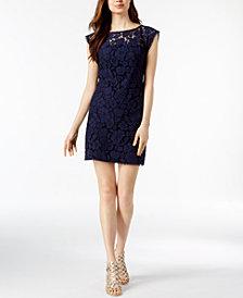 Vince Camuto Lace Illusion Sheath Dress