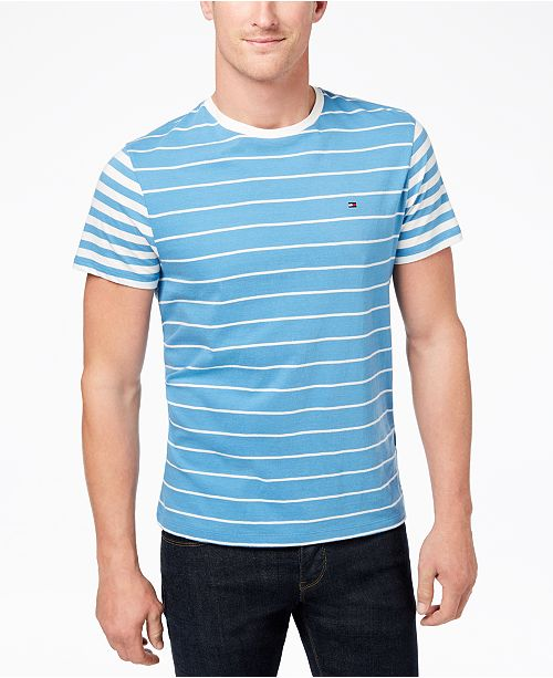 a1d1bdff Tommy Hilfiger Men's Suffolk Colorblocked Stripe T-Shirt, Created for Macy's