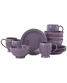 Lenox French Perle Groove Lavender 12-Pc. Dessert Set, Created for Macy's