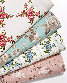 CLOSEOUT! Sanders Vintage Cotton 4-Pc. Farmhouse Floral Sheet Sets